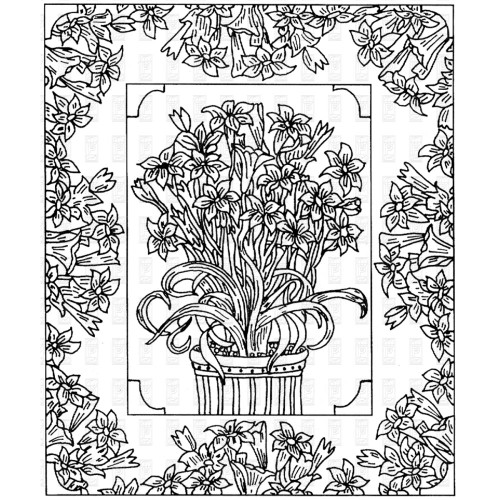 Floral Album Rubber Cling Stamp Paper Parachute