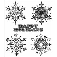 Snowflake Collection Rubber Cling Stamp Tim Holtz