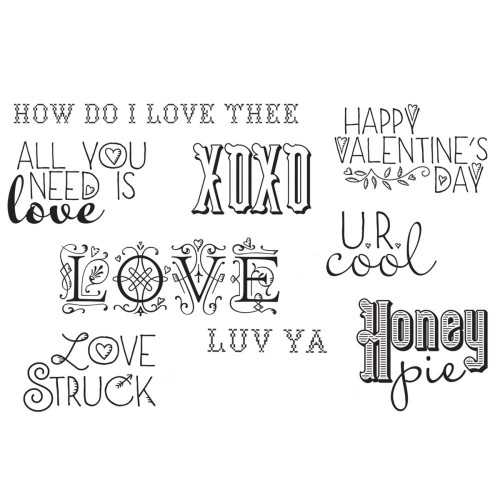 All You Need Is Love Collection Rubber Cling Stamp Unity