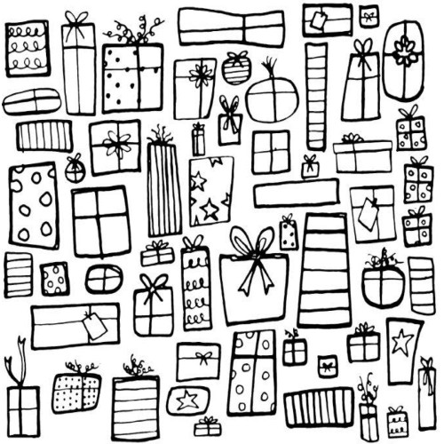 Presents Background Rubber Cling Stamp Gourmet
