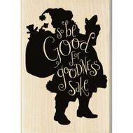 Be Good Santa Claus Wood Mounted Rubber Stamp Inkadinkado