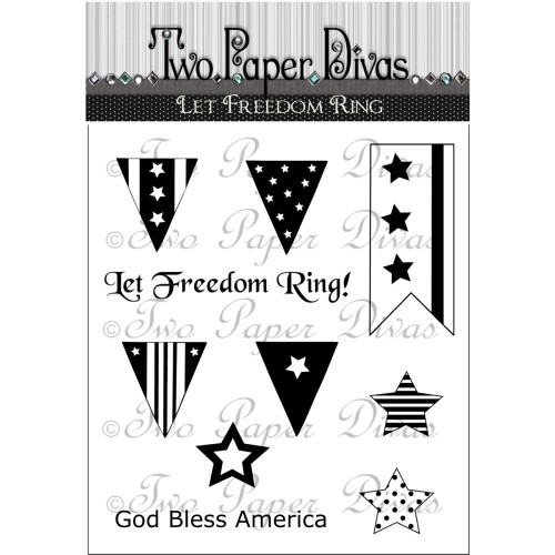 Let Freedom Ring Collection Clear Cling Rubber Stamp Two Paper Divas