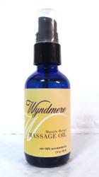 Muscle Relief Massage Body Oil Wyndmere Naturals 2oz