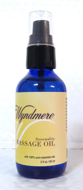 Sensuality Massage Body Oil Wyndmere Naturals 2oz