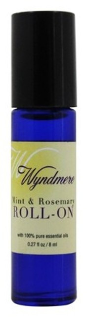 Mint & Rosemary Roll On Aromatherapy Oil Wyndmere Naturals 0.27oz