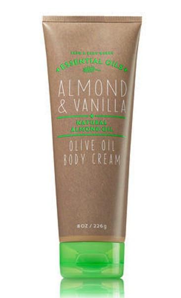 Almond Vanilla Olive Oil Body Cream Bath and Body Works 8oz