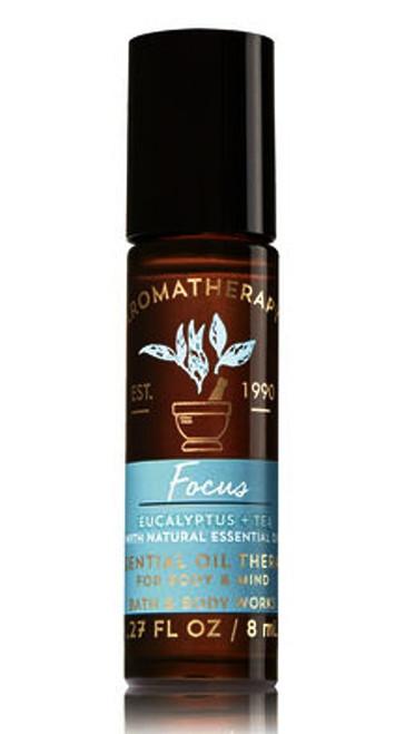 Focus Eucalyptus Tea Aromatherapy Essential Oil Roller Ball Bath and Body Works 0.27oz