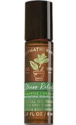 Stress Relief Eucalyptus Spearmint Aromatherapy Essential Oil Roller Ball Bath and Body Works 0.27oz