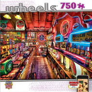 Pump Shop Wheels 750 piece Jigsaw Puzzle Linda Berman