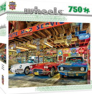 Triple Threat Wheels 750 piece Jigsaw Puzzle Linda Berman