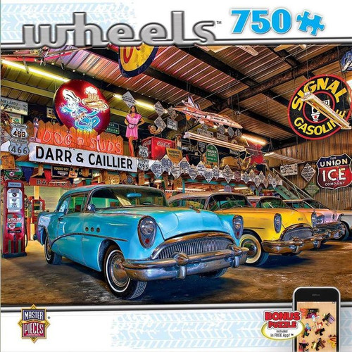 Closeup Wheels 750 piece Jigsaw Puzzle Linda Berman