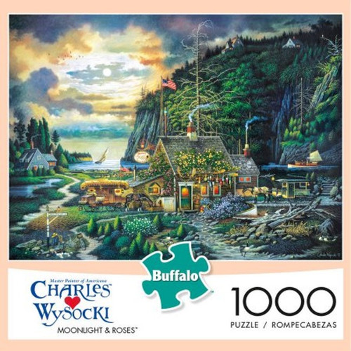 Moonlight & Roses 1000 Piece Jigsaw Puzzle Charles Wysocki