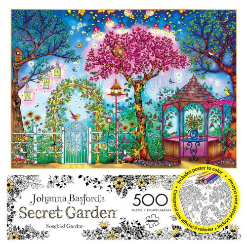 Songbird Garden 500 Piece Jigsaw Puzzle Secret Garden Johanna Basford