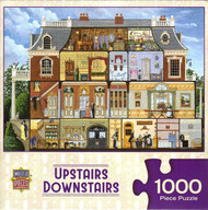 Upstairs Downstairs 1000 Piece Jigsaw Puzzle Art Poulin