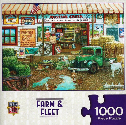 Farm & Fleet 1000 Piece Jigsaw Puzzle Janet Kruskamp