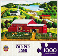 Old Red Barn 1000 Piece Jigsaw Puzzle Art Poulin