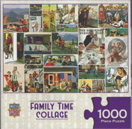 Family Time Collage 1000 Piece Jigsaw Puzzle