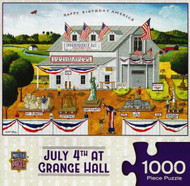 July 4th at Grange Hall 1000 Piece Jigsaw Puzzle Art Poulin