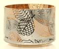 Linear Leaves Barrel Glass Jar Shade Yankee Candle