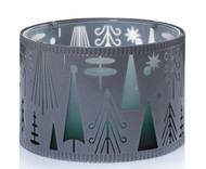 Winter Wonderment Shimmer Glass Metal Jar Shade Yankee Candle