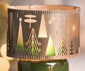 Winter Wonderment Shimmer Glass Metal Jar Shade Yankee Candle