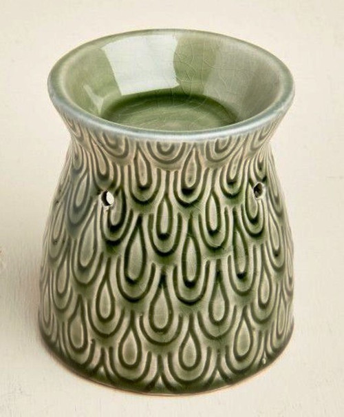 Green Drops Ceramic Oil Warmer Earthbound Trading