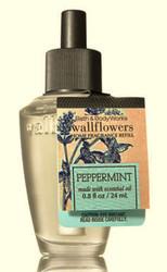 Peppermint Essential Oil Wallflower Fragrance Refill Bulb Bath and Body Works 0.8oz