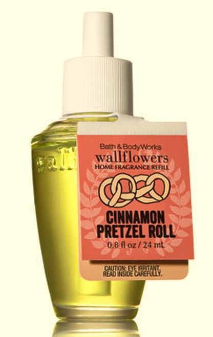 Cinnamon Pretzel Roll Wallflower Fragrance Refill Bulb Bath and Body Works 0.8oz