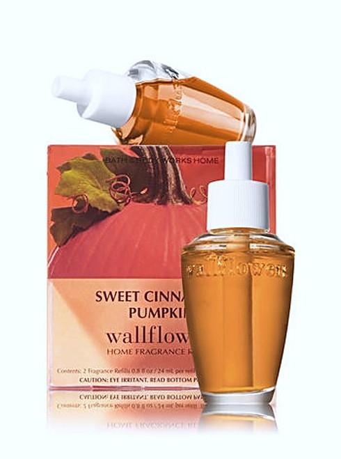 Sweet Cinnamon Pumpkin Wallflower Fragrance Refill Bulb 2-Pack Bath and Body Works