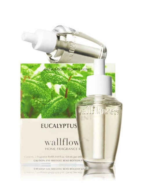 Eucalyptus Mint Wallflower Fragrance Refill Bulb 2-Pack Bath and Body Works 0.8oz