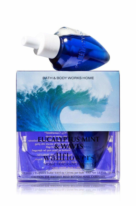 Eucalyptus Mint & Waves Wallflower Fragrance Refill Bulb 2-Pack Bath and Body Works