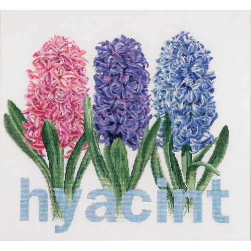 Hyacinth On Linen Counted Cross Stitch Kit Thea Gouverneur