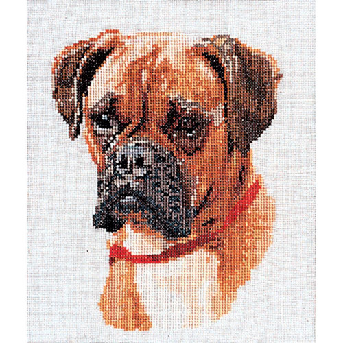 Boxer On Linen Counted Cross Stitch Kit Thea Gouverneur