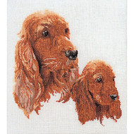 Spaniels on Linen Counted Cross Stitch Kit Thea Gouverneur
