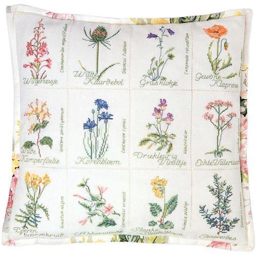 Wild Flowers Cushion on Jobelan Counted Cross Stitch Kit Thea Gouverneur
