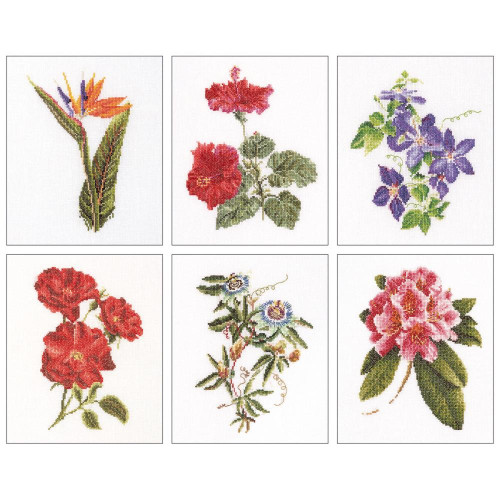Floral Studies #1 On Linen Counted Cross Stitch Kit Thea Gouverneur