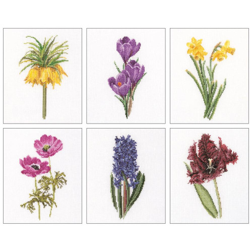 Floral Studies #3 On Linen Counted Cross Stitch Kit Thea Gouverneur