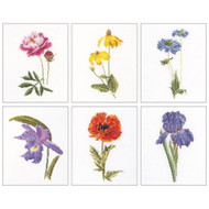 Floral Studies #5 On Linen Counted Cross Stitch Kit Thea Gouverneur