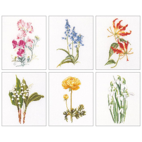 Floral Studies #6 On Linen Counted Cross Stitch Kit Thea Gouverneur