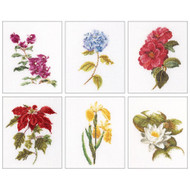 Floral Studies #7 On Linen Counted Cross Stitch Kit Thea Gouverneur
