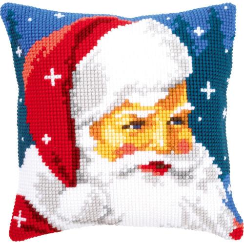 Kind Christmas Santa Claus Cushion Cross Stitch Kit Vervaco