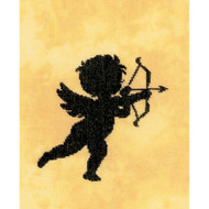 Cupid I on Cotton Counted Cross Stitch Kit LanArte