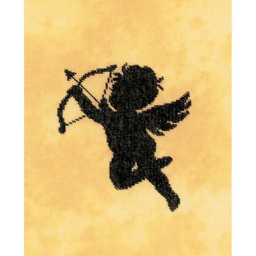 Cupid II on Cotton Counted Cross Stitch Kit LanArte