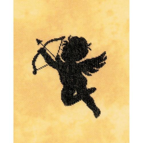 Cupid II on Cotton Counted Cross Stitch Kit LanArte