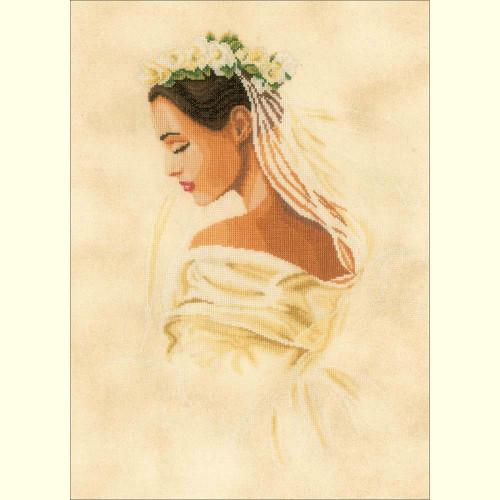 Bride on Linen Counted Cross Stitch Kit LanArte
