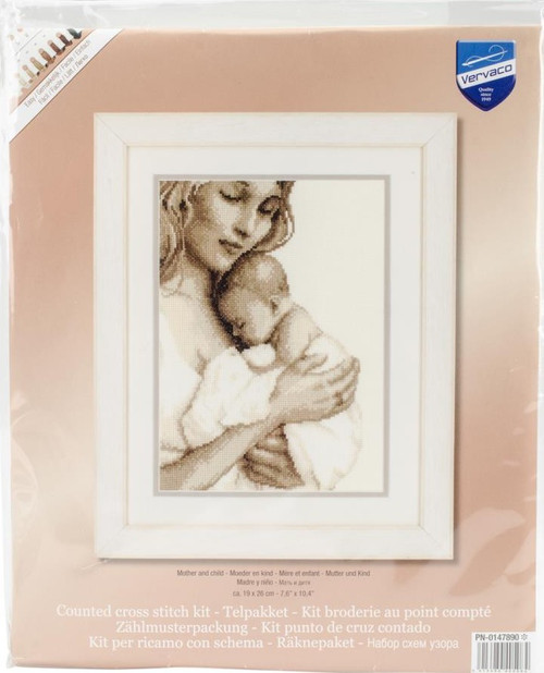 Mother & Child Counted Cross Stitch Kit Vervaco