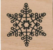 Snowflake Circles Wood Mounted Rubber Stamp Dovecraft