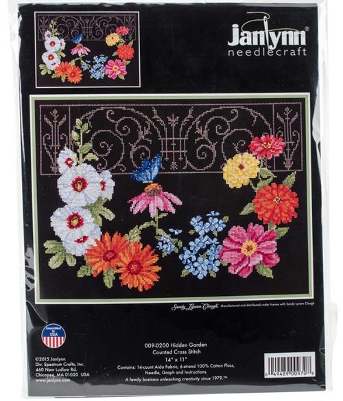 Hidden Garden Counted Cross Stitch Kit Janlynn