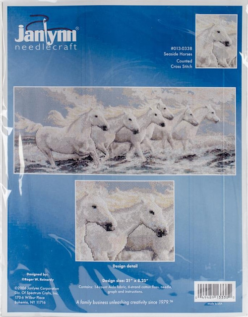 Seaside Horses Counted Cross Stitch Kit Janlynn