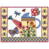 Butterfly Watering Can Counted Cross Stitch Kit Janlynn